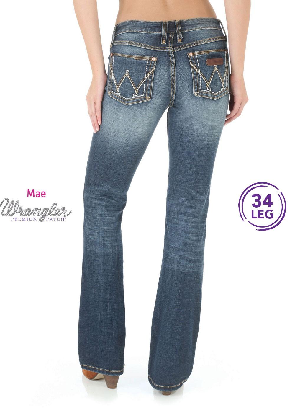 Wrangler Womens Premium Patch Mae Jean