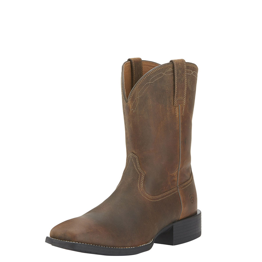 Ariat Mens Heritage Roper Square Toe WST