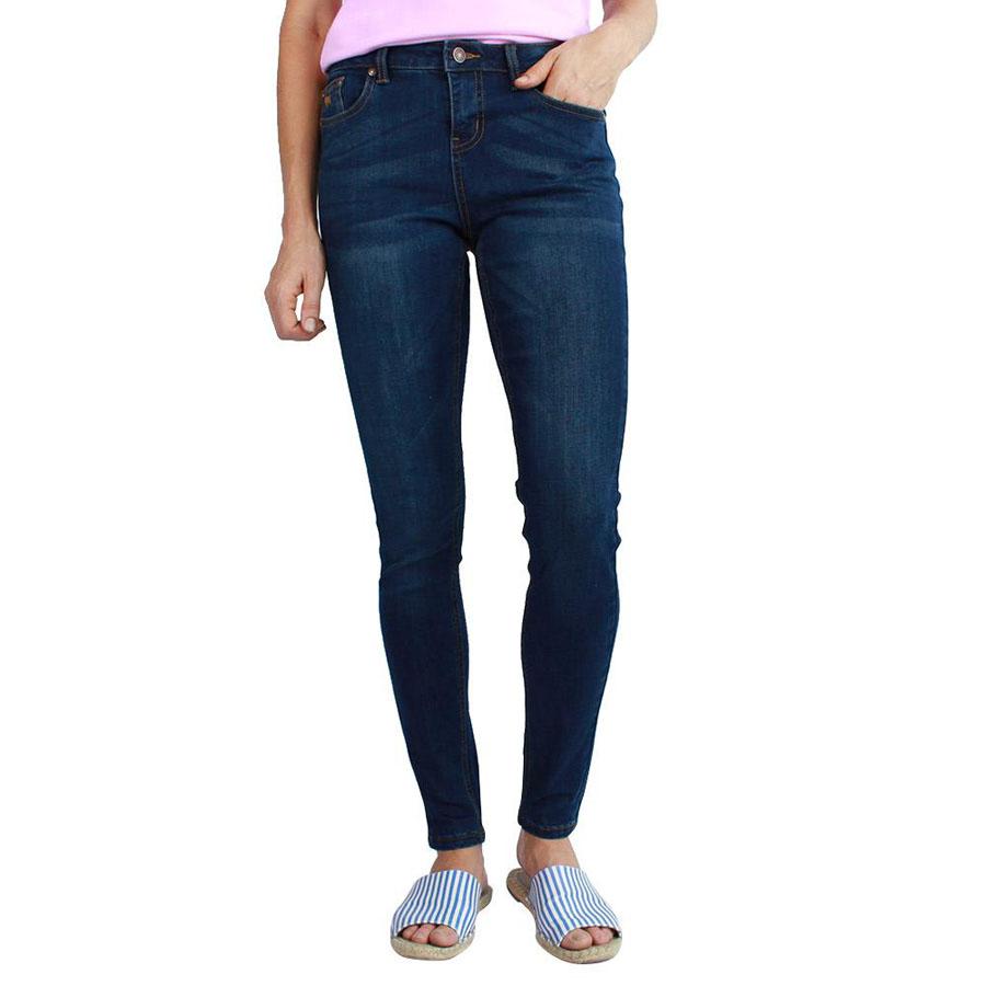 Ringers Womens Sophie Mid Rise Skinny Leg Jean Classic Blue