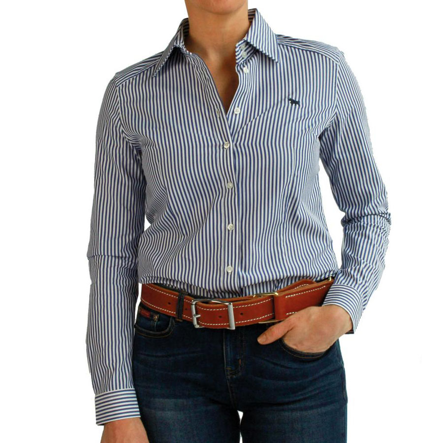 Birdsville Womens Semi Fit Stripe Shirt