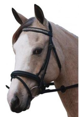 3 Layer Diamonds Hanoverian Bridle