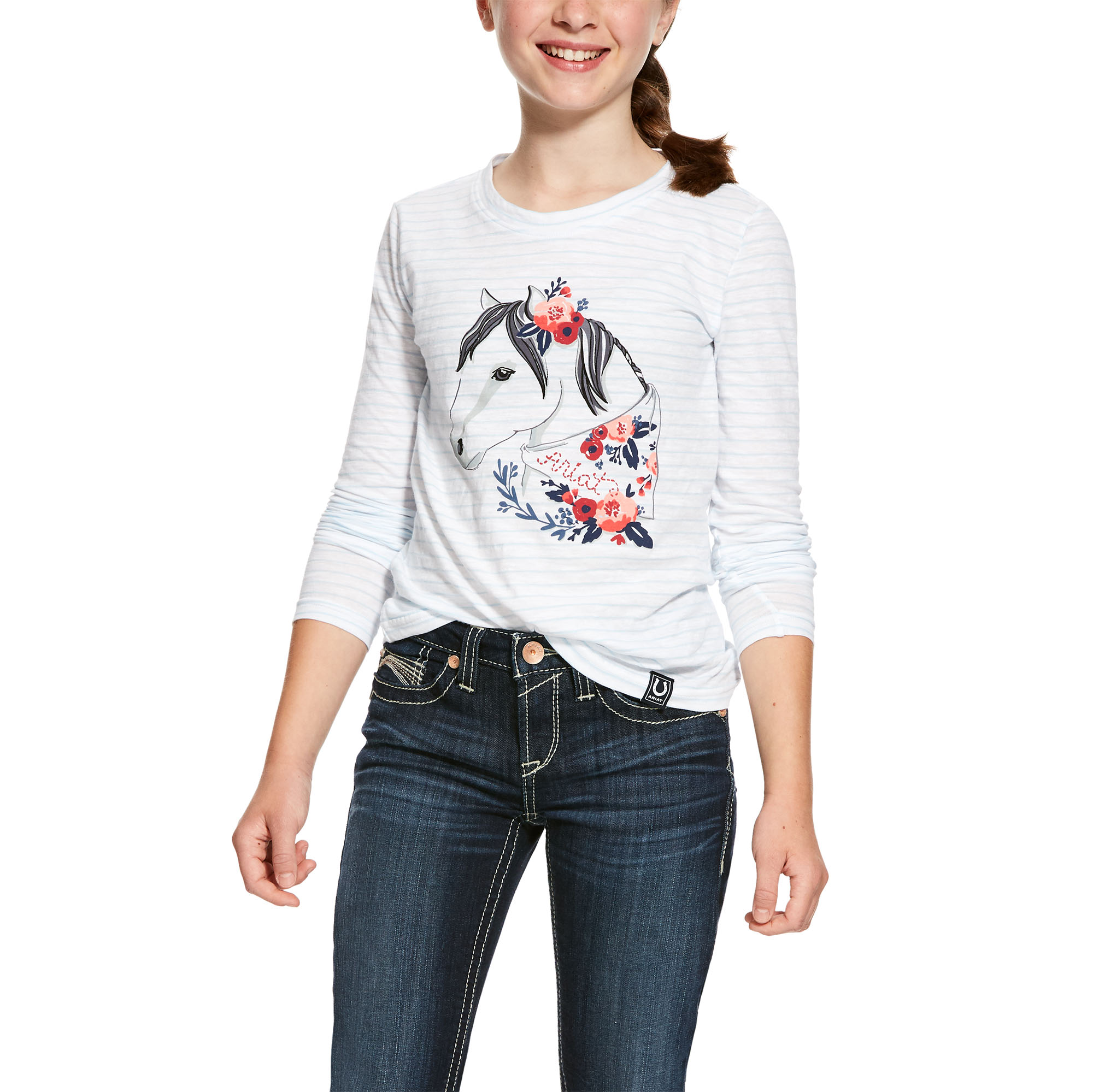 Ariat Girls Boho Pony Long Sleeve Tee