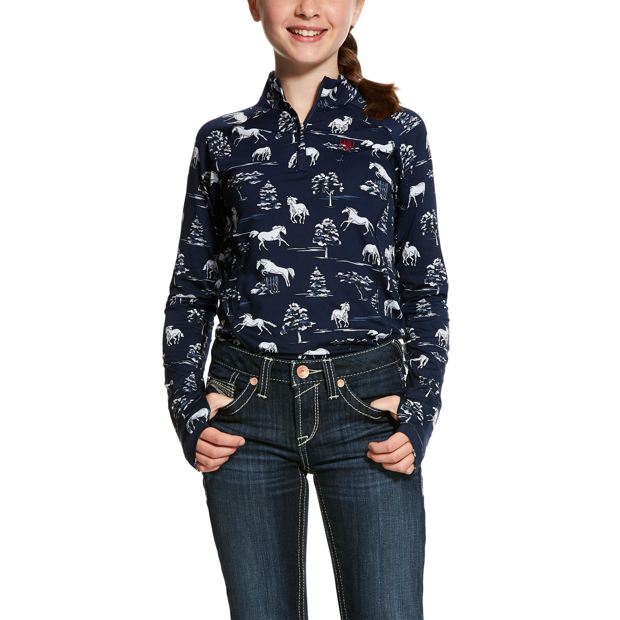 Ariat Girls Lowell 2.0 Quarter Zip Long Sleeve