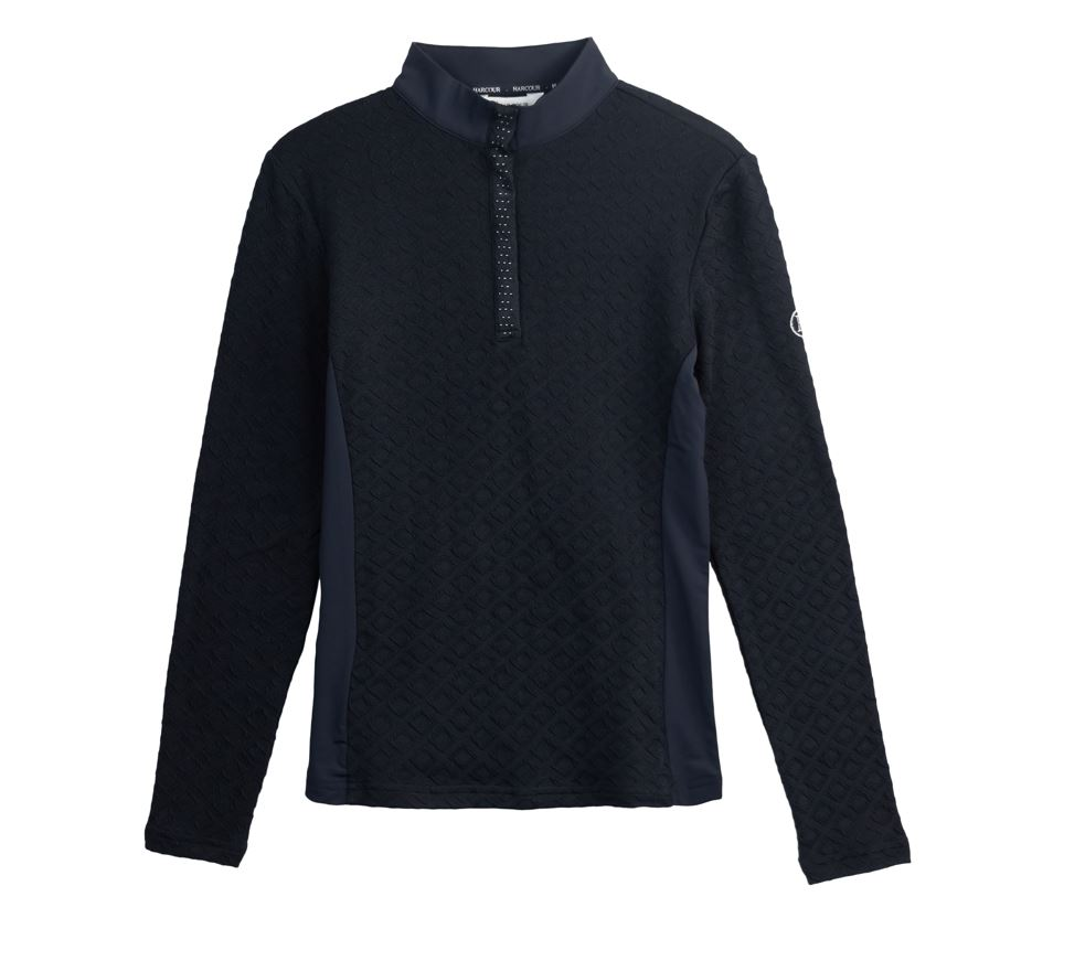 Harcour Charade Warm Polo Shirt Navy