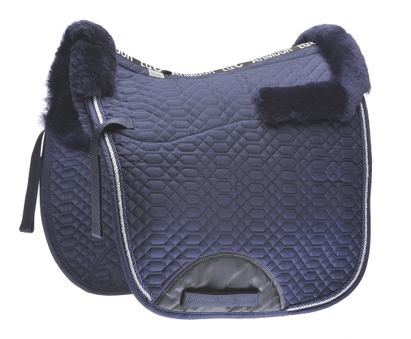 EQ Armour Wool Merino Lined Dressage Pad Navy