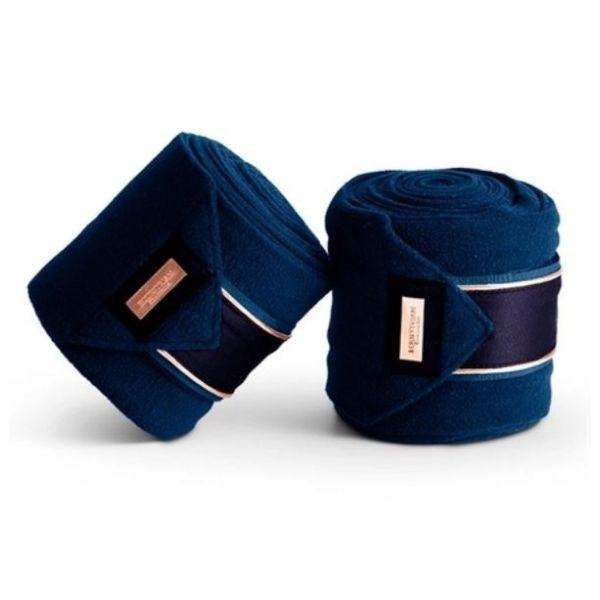 Equestrian Stockholm Fleece Bandages Monaco Blue