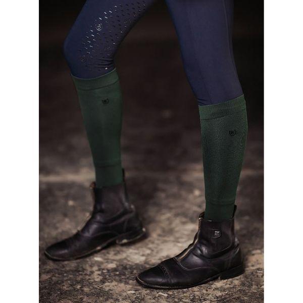 Equestrian Stockholm Knee Socks Deep Olivine