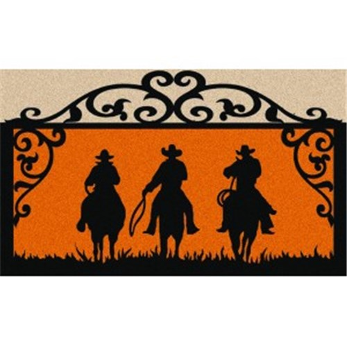 Cowboys on the Move Door Mat