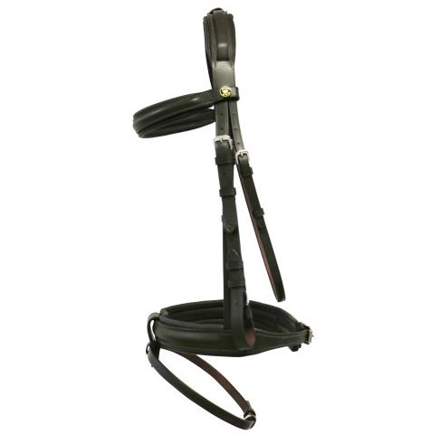 Jeremy & Lord Padded Snaffle Bridle with Removable Hanoverian