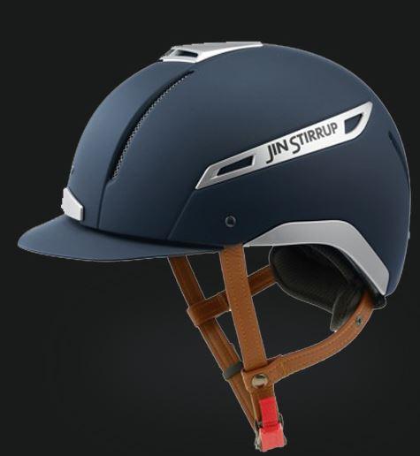 Jin Stirrup Coloured Icona Helmet Matt Blue