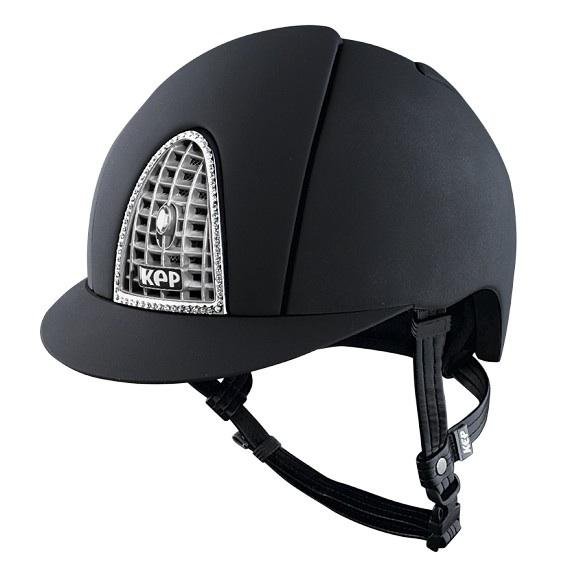 Kep Cap Cromo Textile Helmet Swarovski