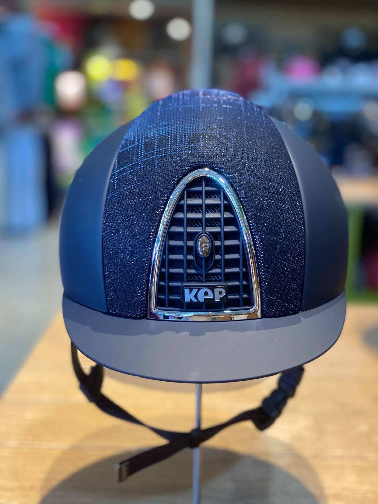 KEP Textile Helmet with Dark Blue Gallasia Front