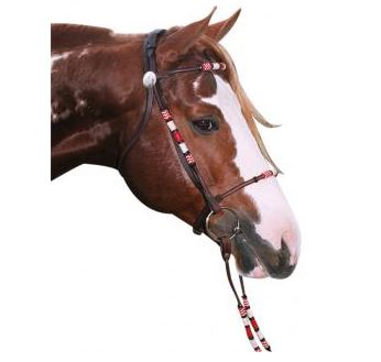Navaho Rolled Snaffle Cavesson Bridle