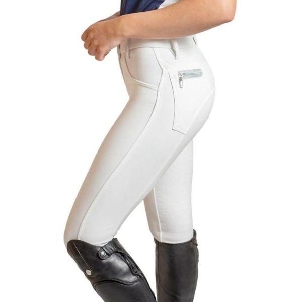 QJ Riding Wear Zara Breech White