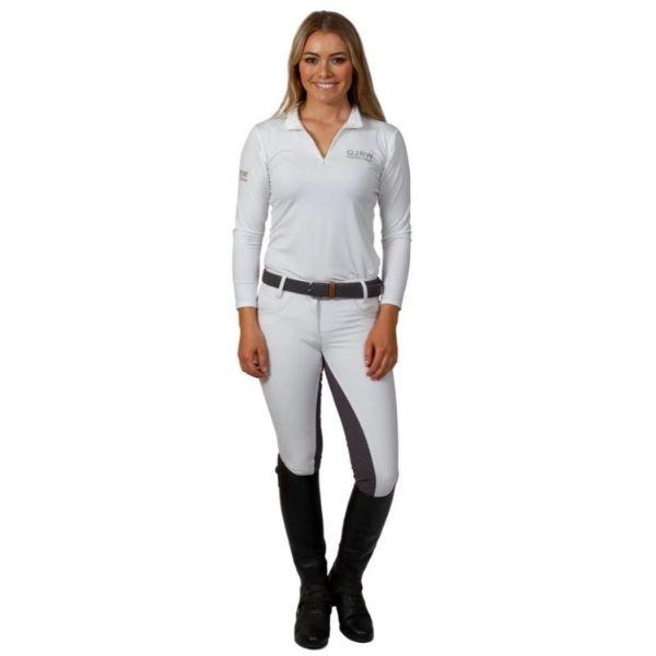 QJ Riding Wear Zara Breech White/Grey