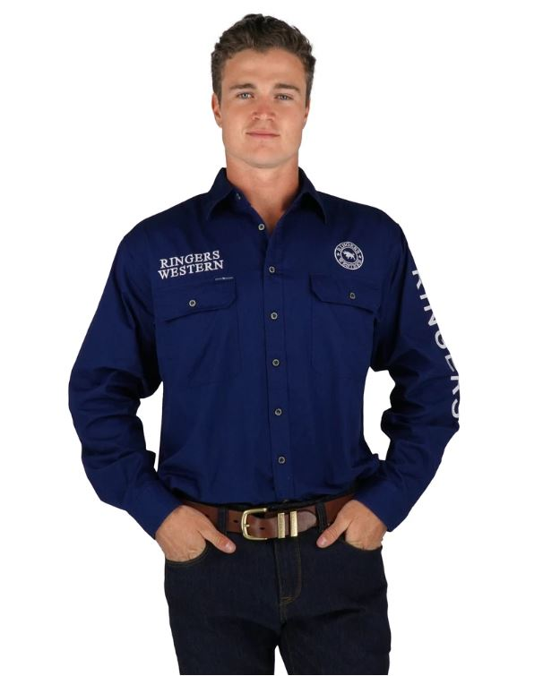 Ringers Mens Hawkeye Full Button Work Shirt