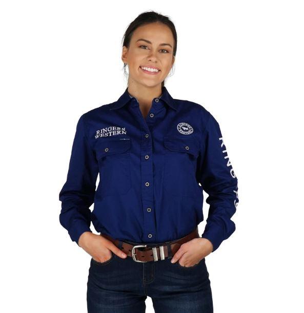 Ringers Signature Jillaroo Womens Full Button Work Shirt