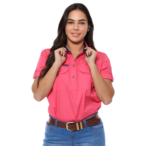 Ringers Womens Jules Short Sleeve Work Shirt
