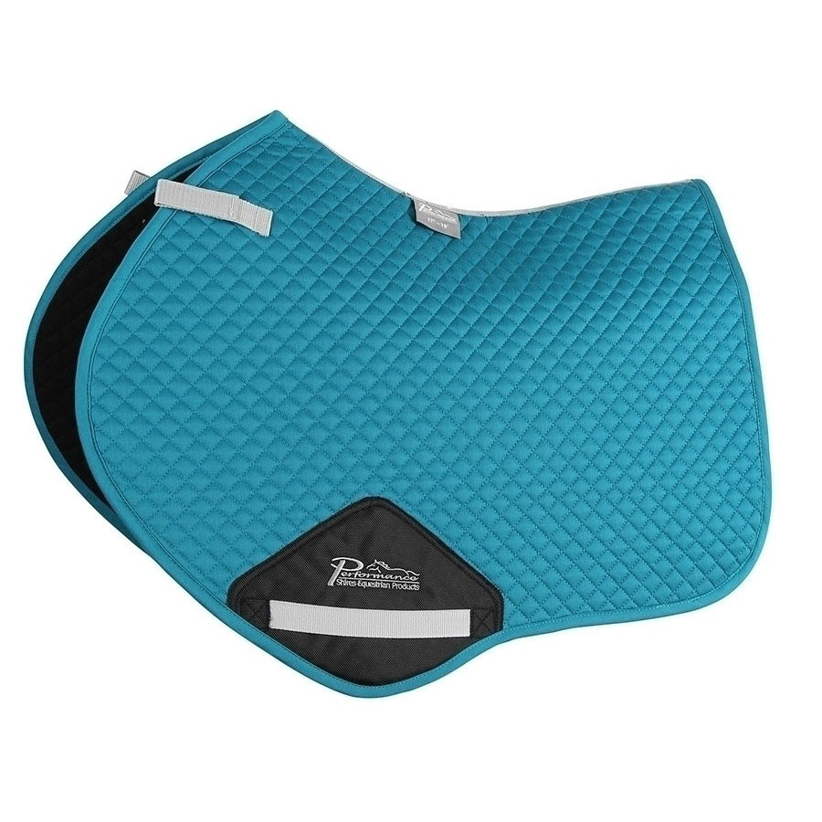 Shires Performance Jump Saddle Pad Blue