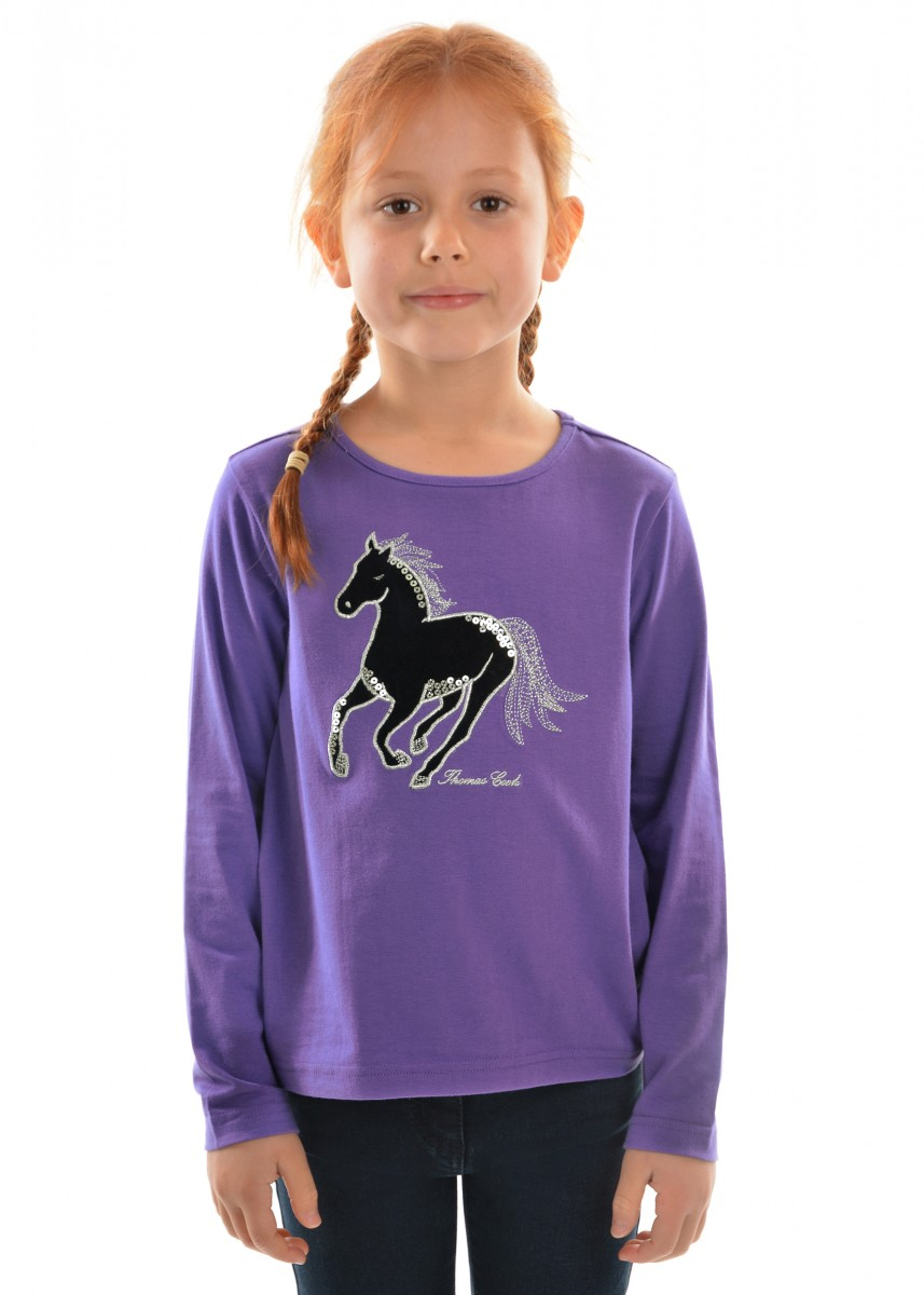 Thomas Cook Girls Velvet Horse Top