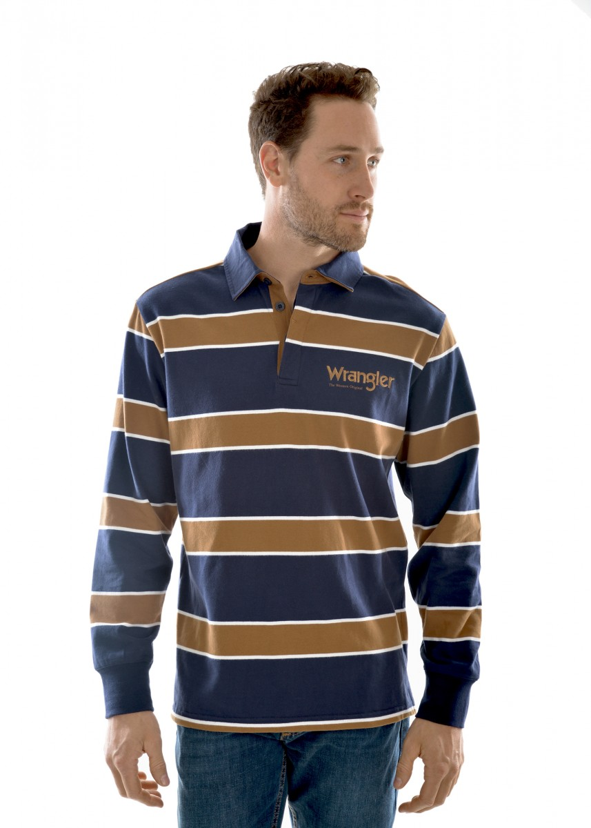 Thomas Cook Mens Finch Stripe Rugby Top