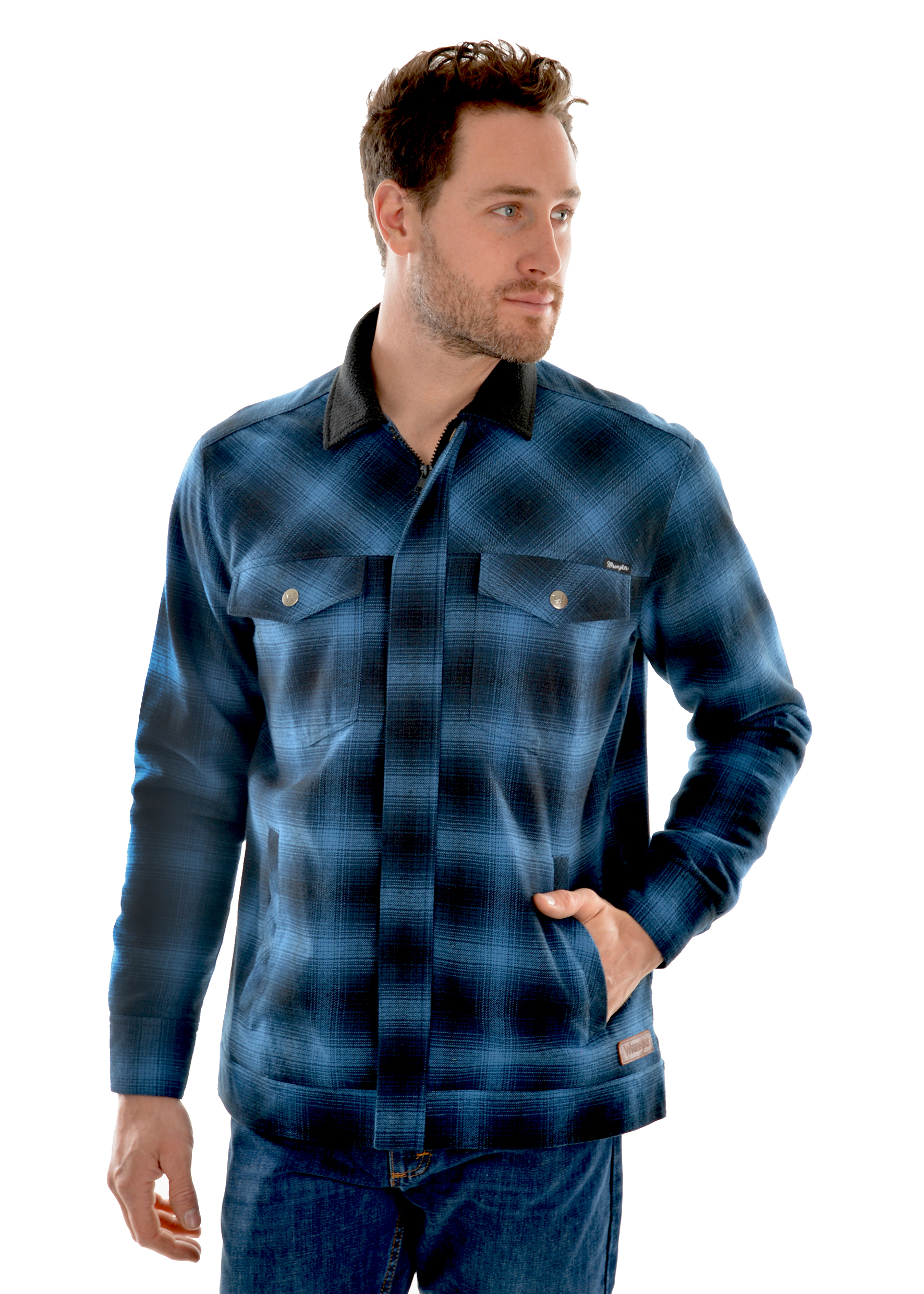 Wrangler Mens Kelvin Shirt Jacket