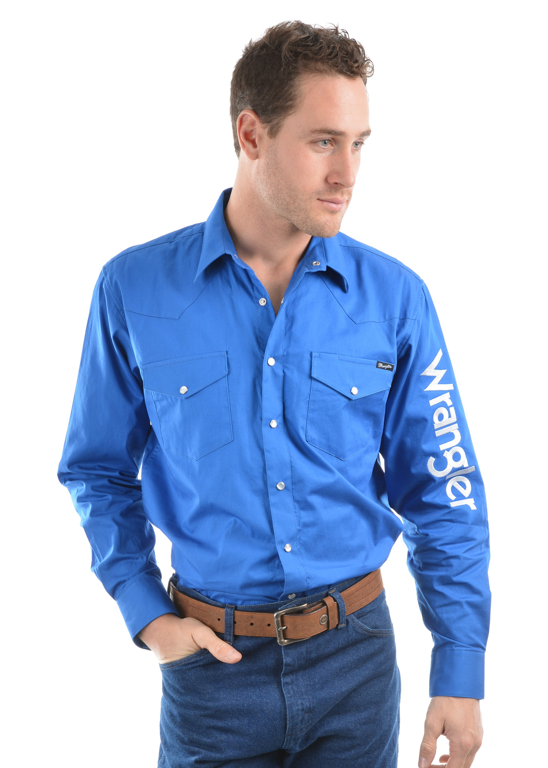 Wrangler Mens Logo Rodeo Shirt