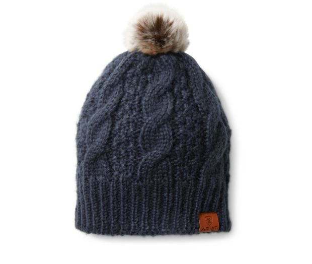 Ariat Unisex Cable Beanie Navy