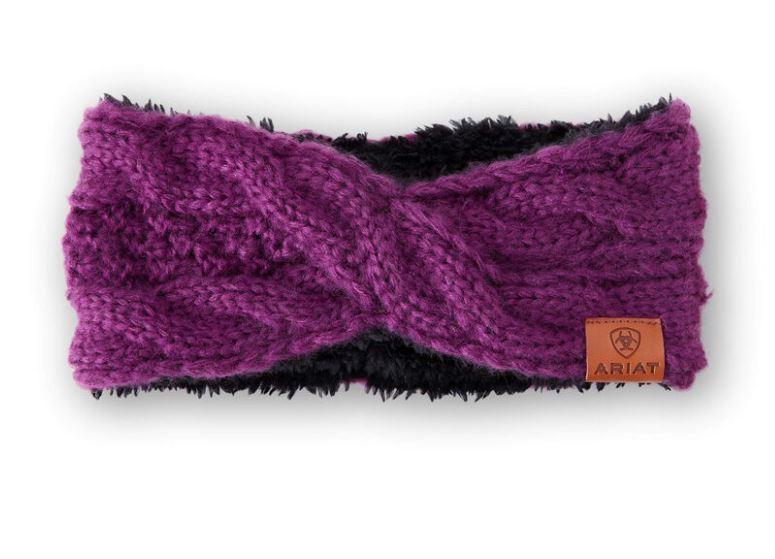 Ariat Unisex Cable Headband Violet