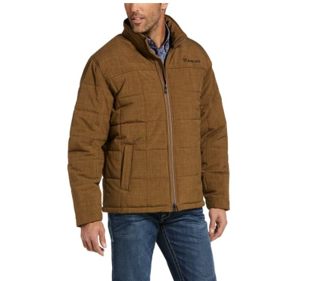 Ariat Mens Crius Insulated Jacket Khaki