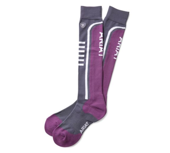 Ariat Unisex AriatTEK Slimline Performance Socks Periscope