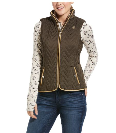 Ariat Womens Ashley Insulated Vest Bark