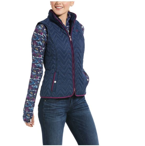 Ariat Womens Ashley Insulated Vest Blue