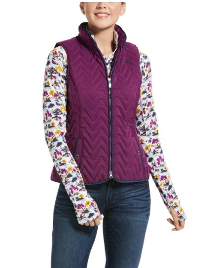 Ariat Womens Ashley Insulated Vest Violet