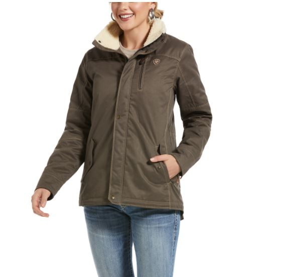 Ariat Womens REAL Grizzly Jacket Bark