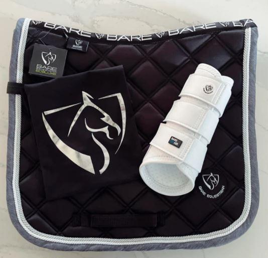 BARE EcoLuxe Luxury Saddle Pad Black/Silver