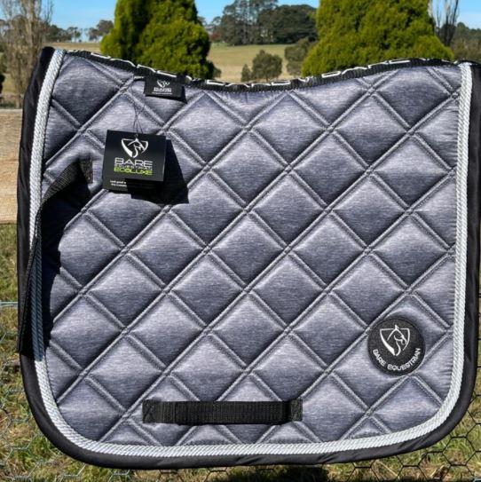 BARE EcoLuxe Luxury Saddle Pad Grey/Black