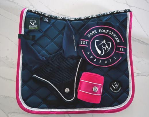 BARE EcoLuxe Luxury Saddle Pad Navy/Pink