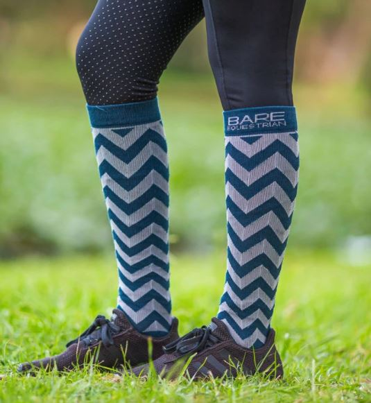 Bare EcoLuxe Sock Navy Chevron