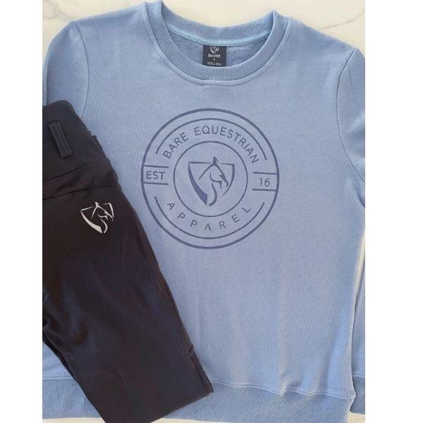 BARE Emblem Sweater Ice Blue