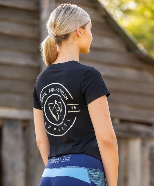 BARE Emblem T-Shirt Black & Silver