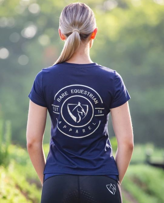 BARE Emblem T-Shirt Navy & Silver
