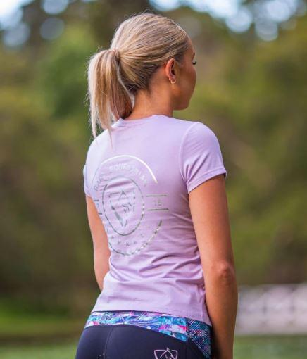 BARE Emblem T-Shirt Lilac & Silver
