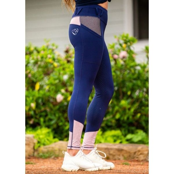 BARE Youth Performance Riding Tight Oxford Rose