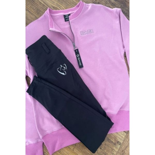 BARE Zip Sweater Washed Violet