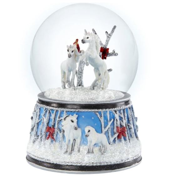 Breyer Musical Enchanted Forest Snow Globe