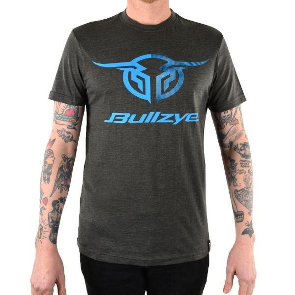 Bullzye Mens Authentic Short Sleeve Tee Charcoal Marle