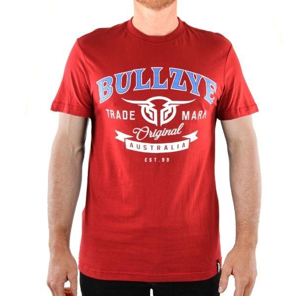 Bullzye Mens Divide Short Sleeve Tee Red
