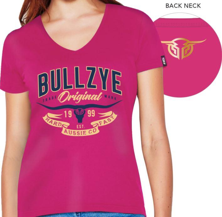 Bullzye Womens Hard Fast V-Neck Tee