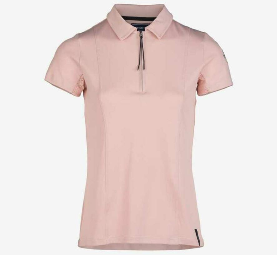 B-Vertigo Womens Claudine Short Sleeve Pink Polo Shirt